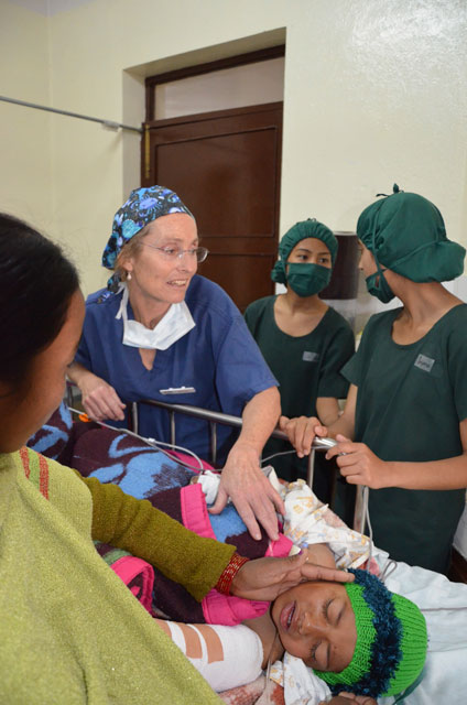 OHI team working with local nurses in Nepal
