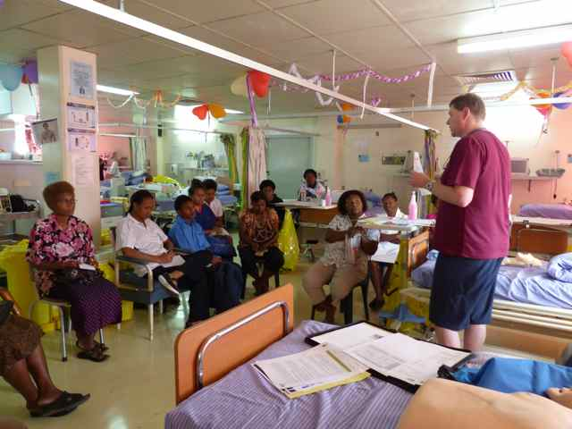 Educating the local nurses in PNG