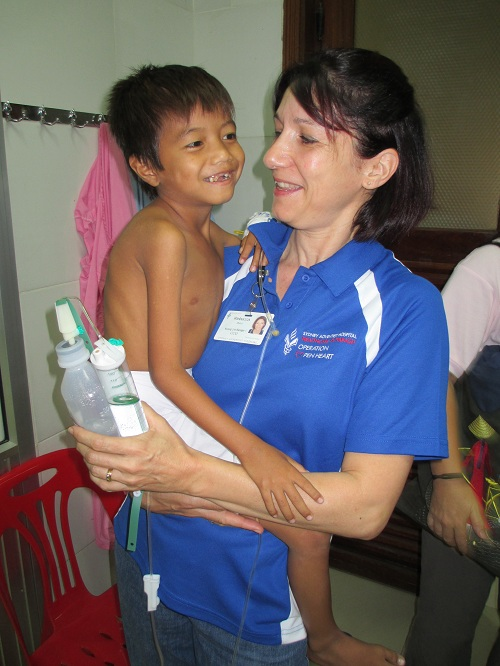 Cambodian heart patient Chea surgery day