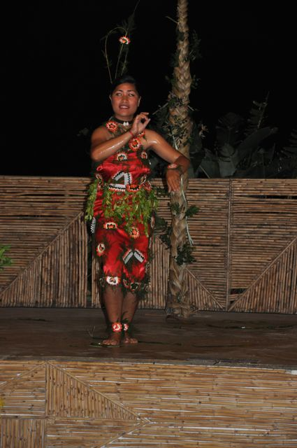 dancers at the cultural night in Tonga