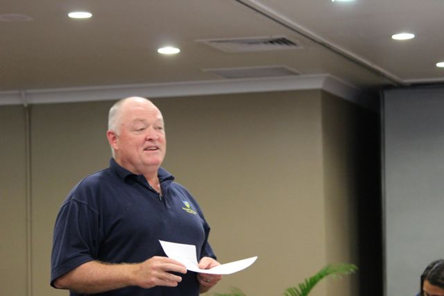 Team meeting in PNG with Russell Lee