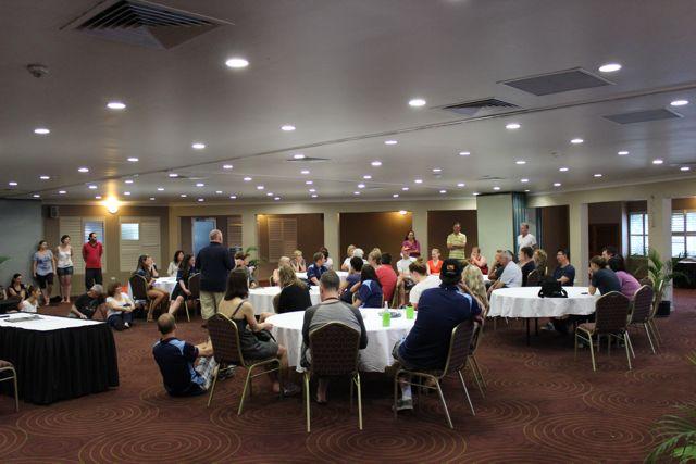 Team meeting in PNG
