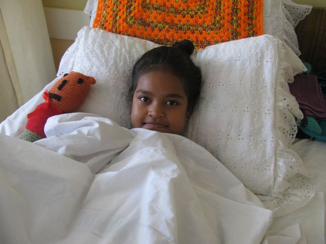 Happy cardiac patients in Tonga after surgery