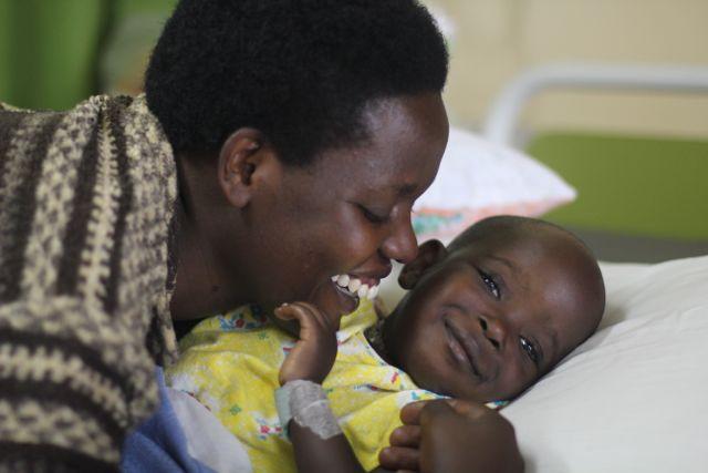 Rwandan cardiac patient Joy