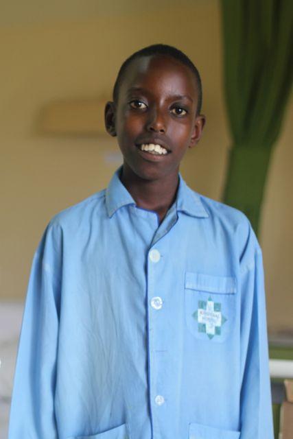 Rwandan cardiac patient Patrick