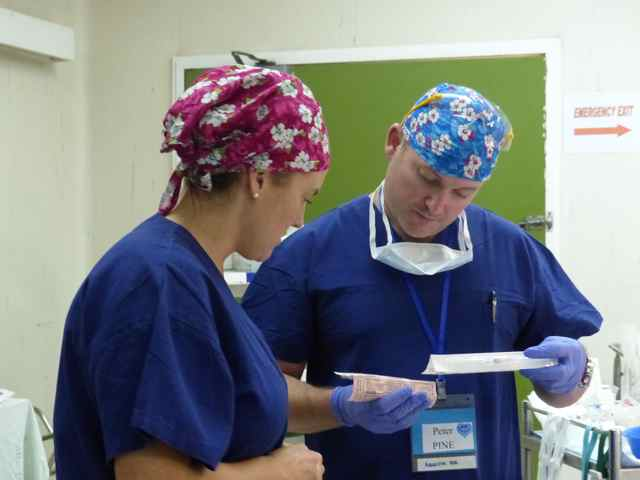 Paulette and Pete two of our anaesthetic nurses